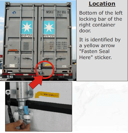 How to seal a shipping container