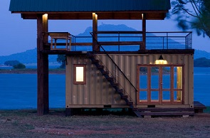 Shipping Container Home Design Ideas     Shipping Container Lakeside Retreat