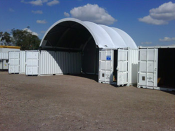 Large Container Shelter Colours Available
