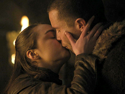 Arya/Gendry kiss in Game of Thrones season 8