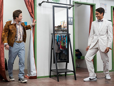 Benji and Victor show off their new outfits in Love, Victor
