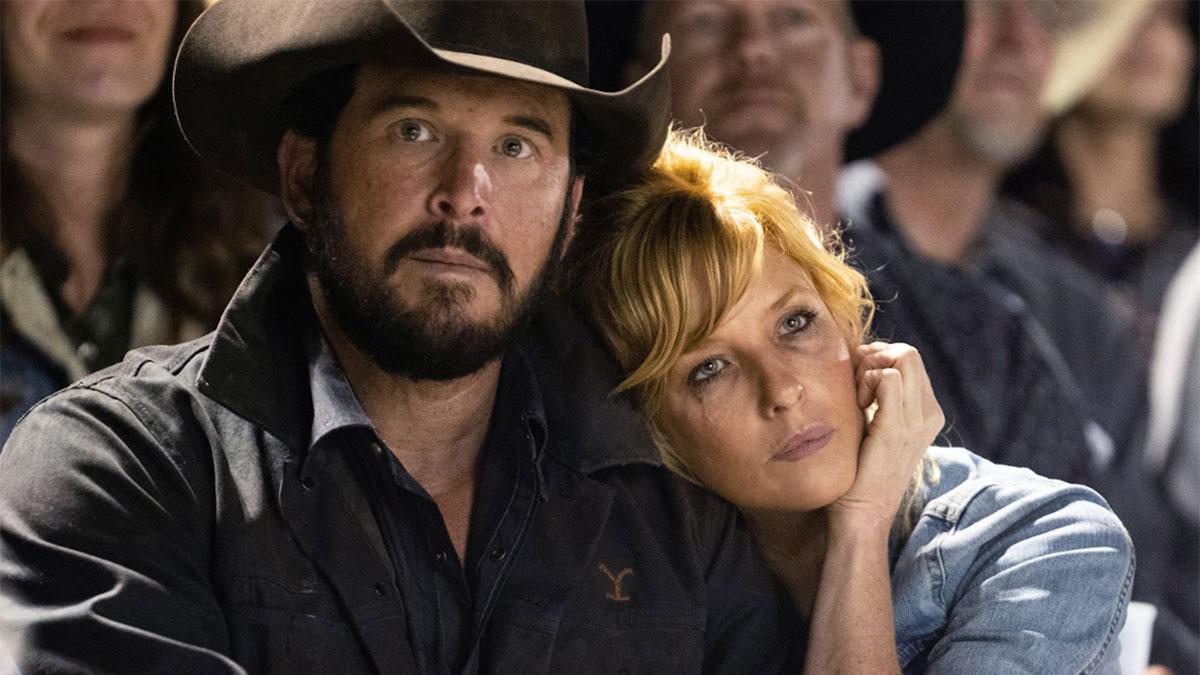 Rip and Beth in Yellowstone season 3