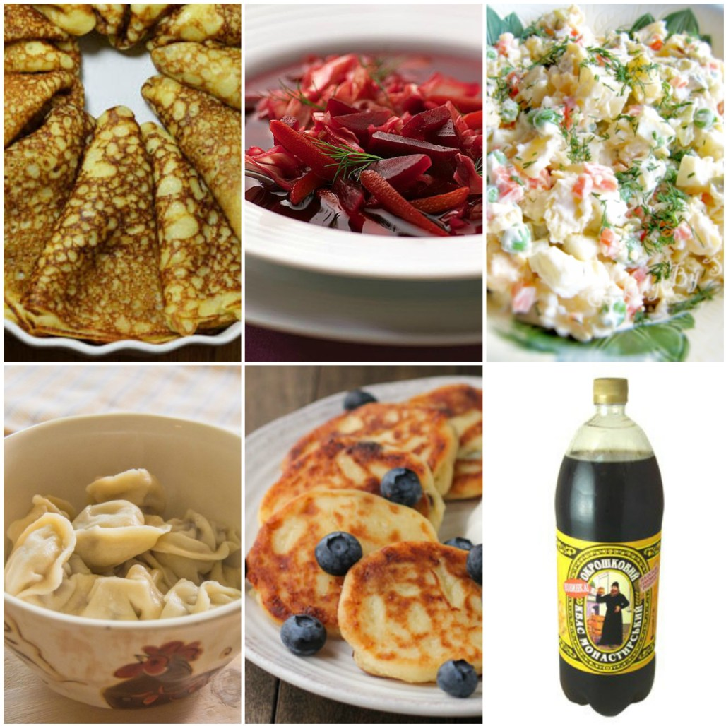 Russian food collage