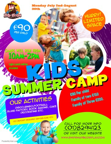Copy of Kids Summer Camp Flyer - Made with PosterMyWall (2)