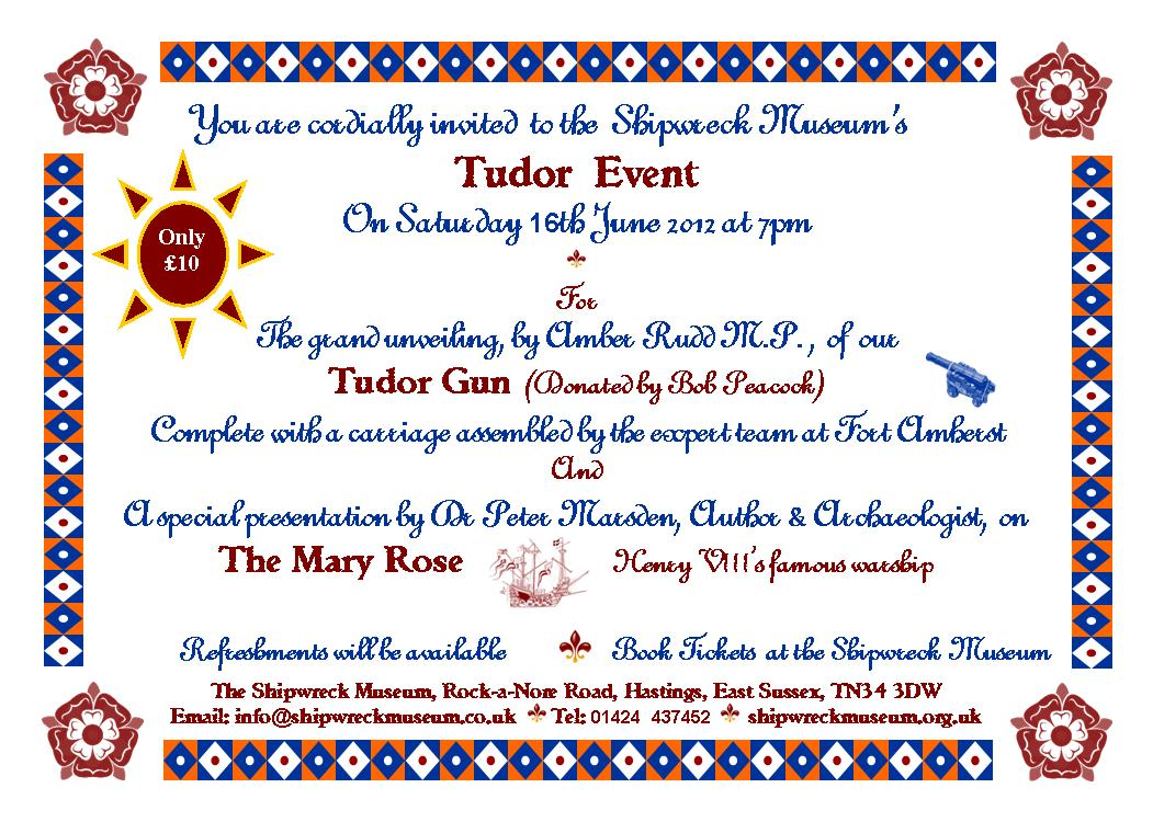 Tudor event invite