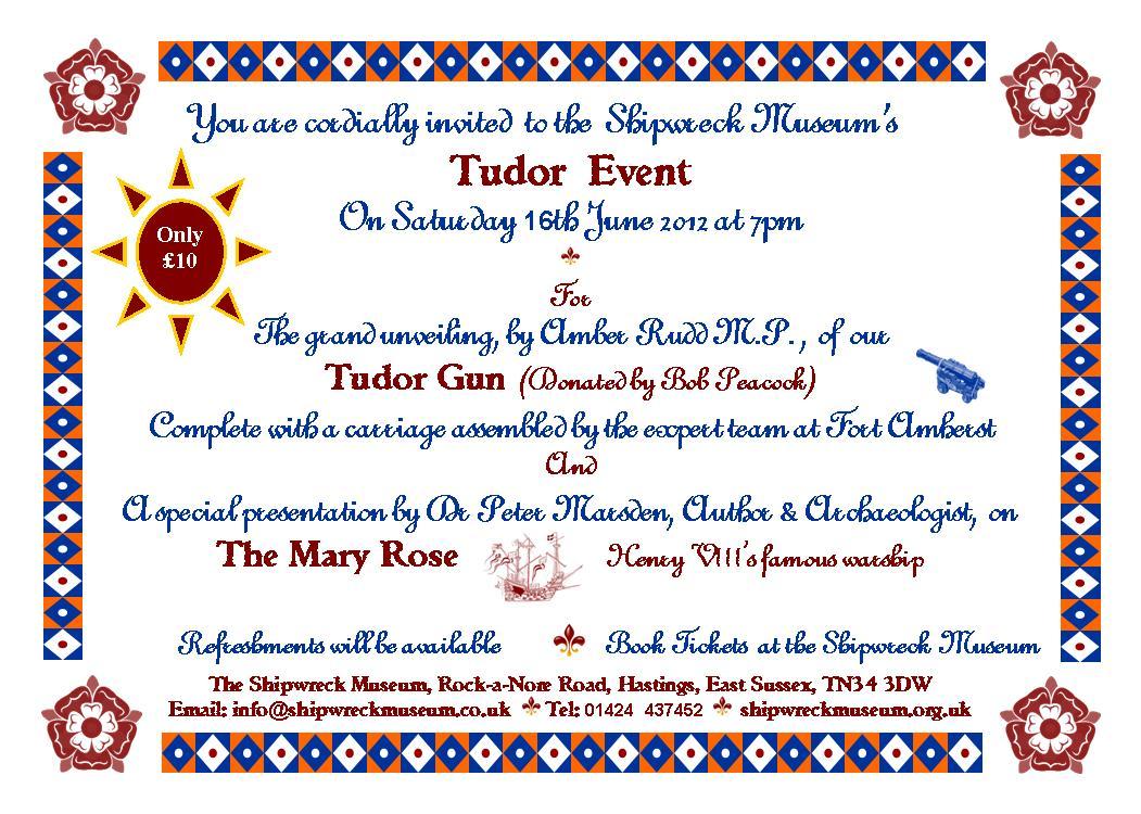 Tudor event invite