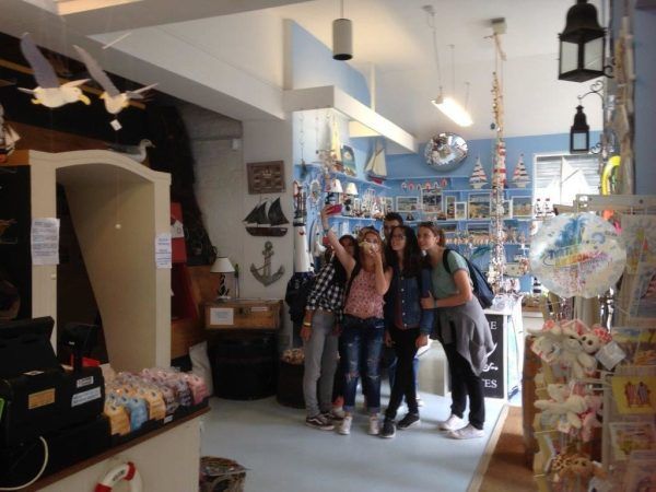 Visitors take a Selfie in the Shipwreck Museum Shop