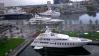 Mega-Yachts at the dock