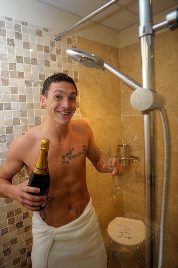 Kirk Norcross in the shower