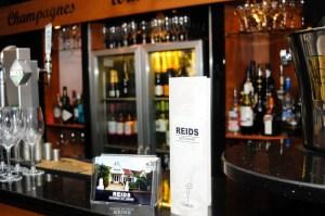 closeup of the menu standing on the bar
