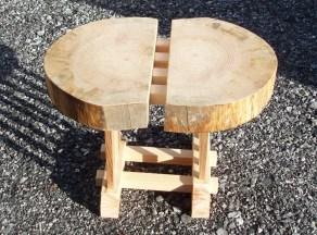 剥ぎ合わせの椅子