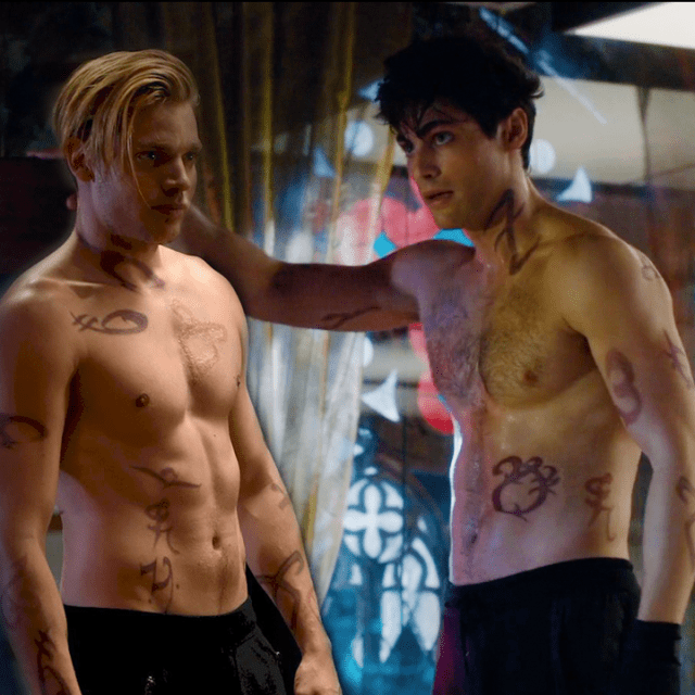 Shadowhunters: Jace & Alec shirtless