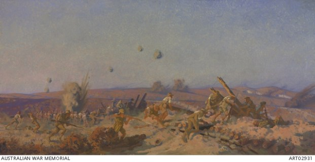 'The Taking of Lone Pine'. Fred Leist 1921. Used with permission of the Australian War Memorial