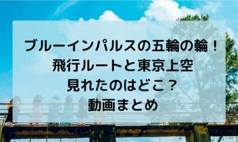 ブルーインパルスの五輪の輪!飛行ルートと東京上空見れたのはどこ?動画まとめ