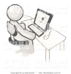 vector-clip-art-of-a-sketched-design-mascot-white-doctor-man-sitting-at-a-computer-and-viewing-an-xray-of-a-head-by-leo-blanchette[1]
