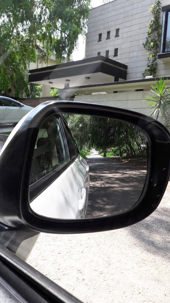 Start your drive with a well adjusted rear view mirror.