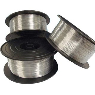 Spooled silver wire