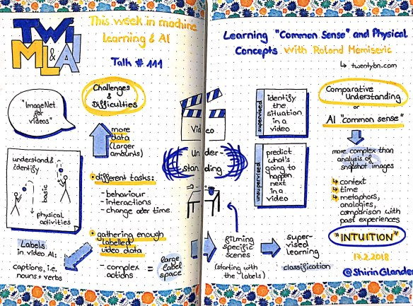 Sketchnotes from TWiML&AI #111: Learning