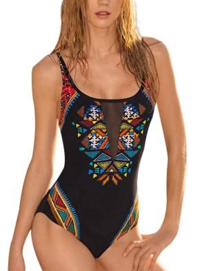 Women's Retro One Piece Swimsuit Beachwear Monokini