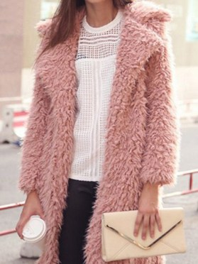 Women's Tall Long Jacket Faux Fur Warm Parka Outwear