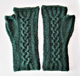 Norne fingerless mittens (Mette Lea)