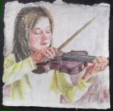 Lauren's Lullaby II, 12 x 12 in, watercolour on saa paper