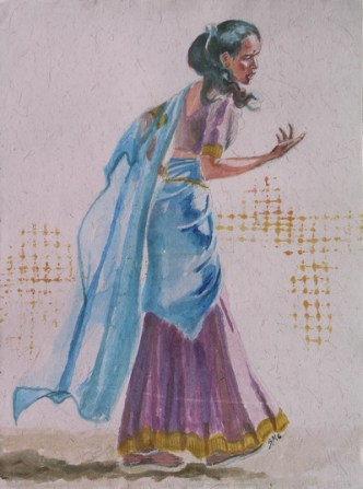 Romany Wild Child, 12 x 9 in, watercolour on Indian rag paper