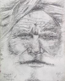 Pushkar Rajput, pencil sketch, 4 x 3 in