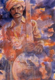 The Music Man, acrylic, 22 x 15 in