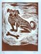 Terrier linocut