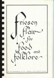 Friesen family cookbook cover