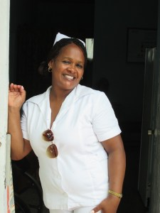 Nurse employed at the resort Club Amigo in Marea del Portillo. Photo by Tina Glanzer.