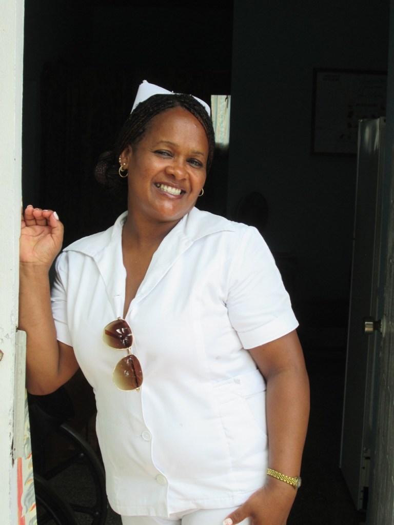 Nurse employed at the resort Club Amigo in Marea del Portillo. Photo by Tina Glanzer.