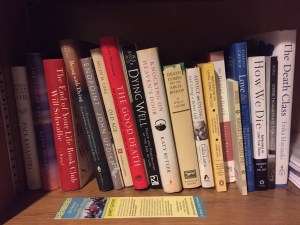 The death and dying books shelf.