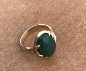 The jade ring. A work of art connecting me to my past.