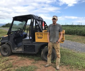 Farm specialist Nate Clark.