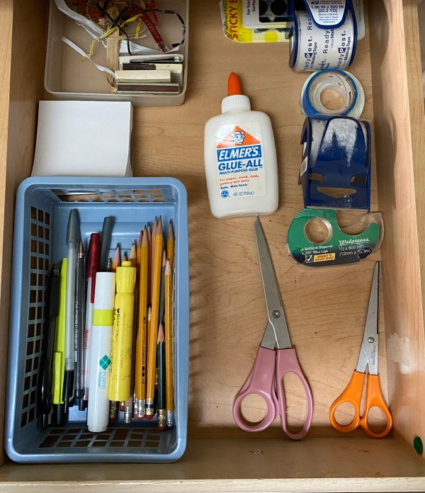 No longer junk! Now it's the kitchen office drawer.