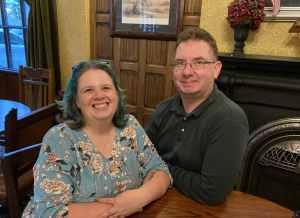 Sam and Todd Dickinson at the Bull's Head pub, Lititz, PA