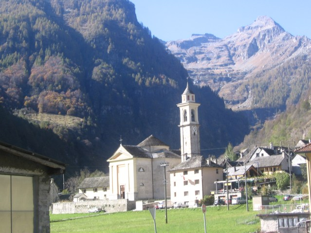 Sonogno Church and Bell Tower