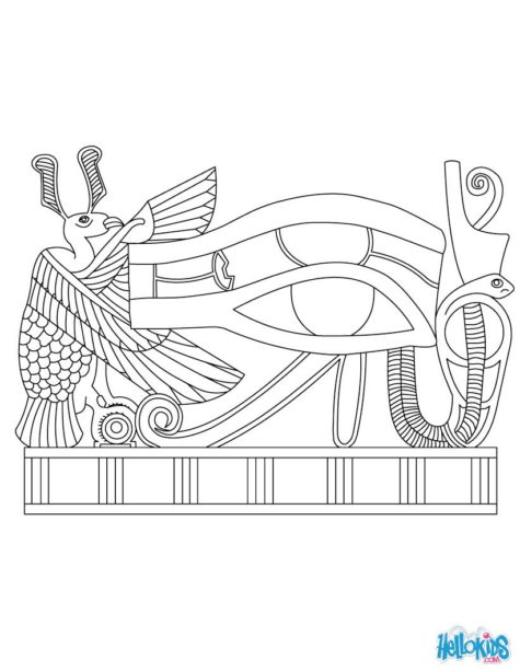 Eye Of Horus Coloring Page Coloring Pages