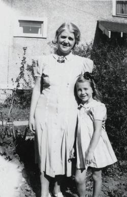 Shirley and her mother, Marshalltown, Iowa