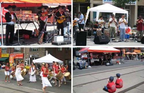 music, dance & kids at Salsa Street Festival