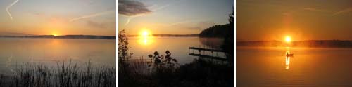 Sunrise at Calabogie Lake
