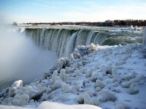 冬季时的尼加亚拉瀑布