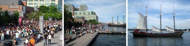 从游艇上看到的Harbourfront和湖景