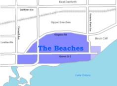 The Beaches 地图 (image source : wikimedia)