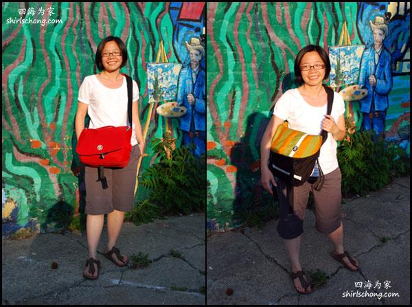 左图:我们的相机包包。右图:我们日常用的包包
