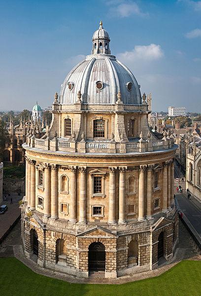 Radcliffe Camera building in Oxford, UK