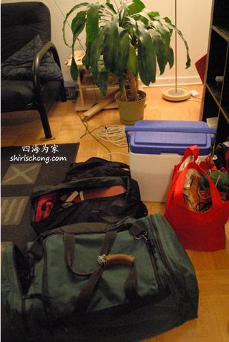 去Taste美食节的行李和要带去的食物!!这周末会不停地吃! :)