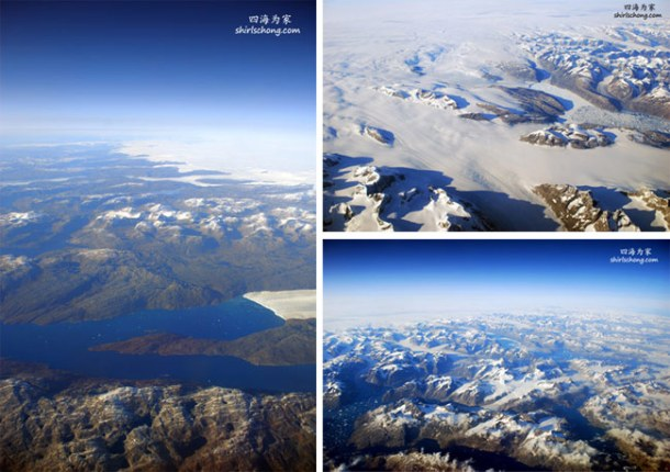 Bird View of Greenland (in flight from Toronto-Iceland)